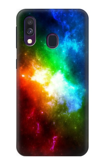 Printed Colorful Rainbow Space Galaxy Samsung Galaxy A40 Case