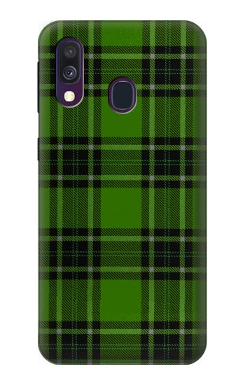 Printed Tartan Green Pattern Samsung Galaxy A40 Case