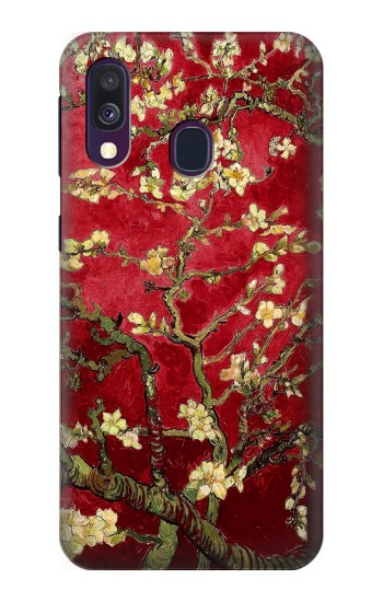 Printed Red Blossoming Almond Tree Van Gogh Samsung Galaxy A40 Case