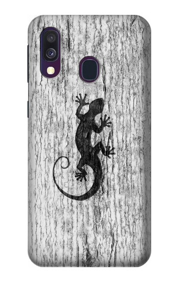 Printed Gecko Wood Graphics Printed Samsung Galaxy A40 Case