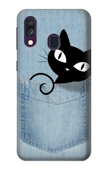 Printed Pocket Cat Samsung Galaxy A40 Case