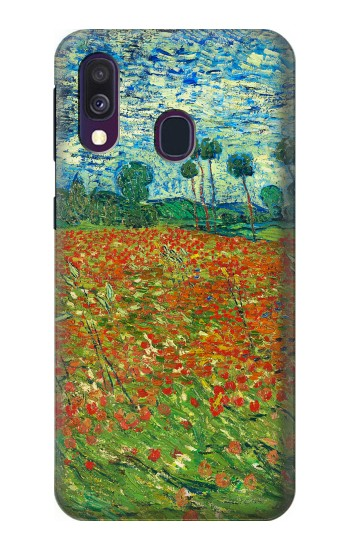 Printed Field Of Poppies Vincent Van Gogh Samsung Galaxy A40 Case