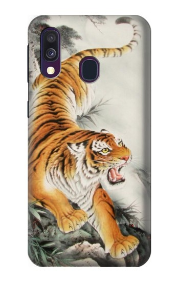 Printed Chinese Tiger Tattoo Painting Samsung Galaxy A40 Case