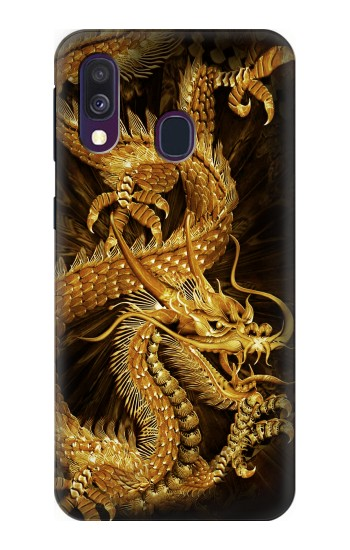 Printed Chinese Gold Dragon Printed Samsung Galaxy A40 Case