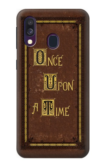 Printed Once Upon a Time Book Cover Samsung Galaxy A40 Case