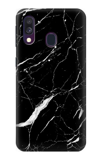 Printed Black Marble Graphic Printed Samsung Galaxy A40 Case