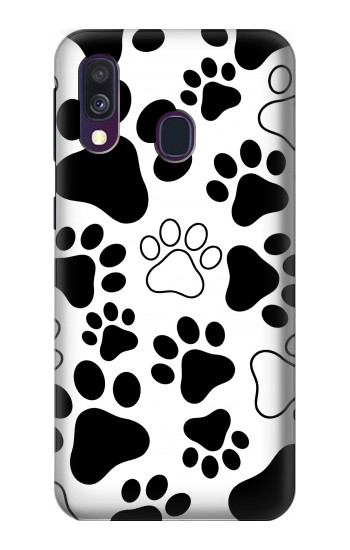 Printed Dog Paw Prints Samsung Galaxy A40 Case