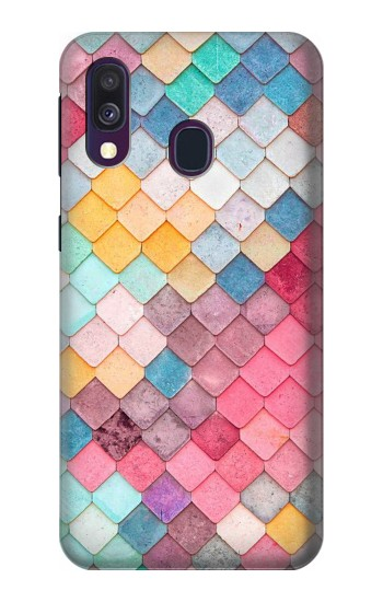 Printed Candy Minimal Pastel Colors Samsung Galaxy A40 Case