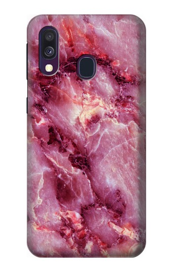 Printed Pink Marble Texture Samsung Galaxy A40 Case