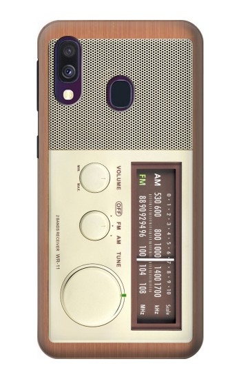 Printed FM AM Wooden Receiver Graphic Samsung Galaxy A40 Case