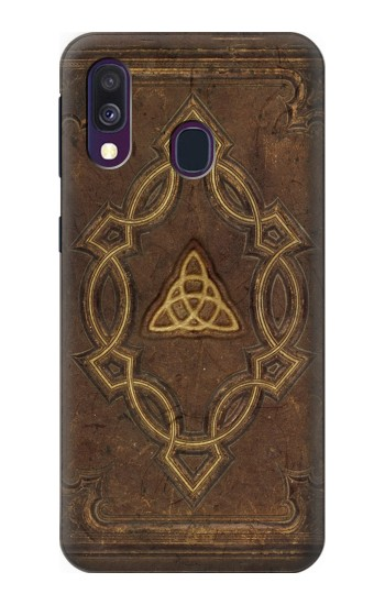 Printed Spell Book Cover Samsung Galaxy A40 Case