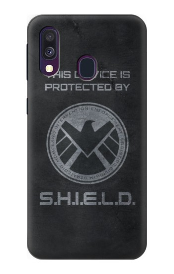 Printed This Device is Protected by Shield Samsung Galaxy A40 Case