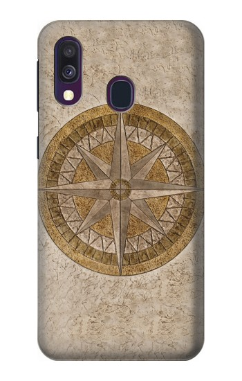 Printed Windrose Circle Stamp Samsung Galaxy A40 Case