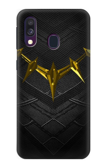 Printed Black Panther Inspired Costume Gold Necklace Samsung Galaxy A40 Case