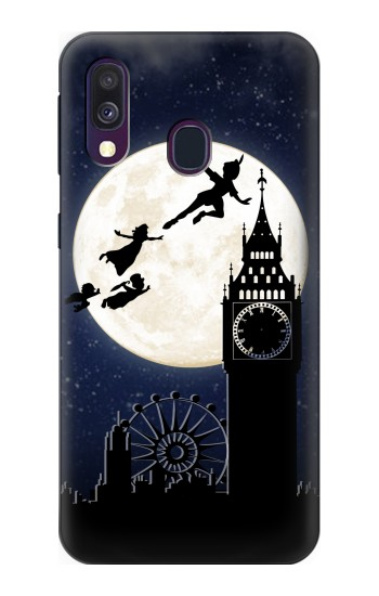 Printed Peter Pan Fly Fullmoon Night Samsung Galaxy A40 Case