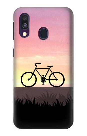 Printed Bicycle Sunset Samsung Galaxy A40 Case