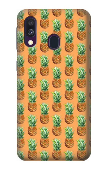 Printed Pineapple Pattern Samsung Galaxy A40 Case