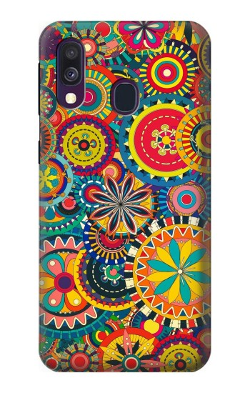 Printed Colorful Pattern Samsung Galaxy A40 Case