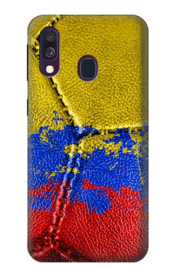 Printed Colombia Flag Vintage Football 2018 Samsung Galaxy A40 Case