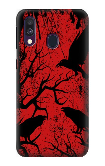 Printed Crow Black Tree Samsung Galaxy A40 Case