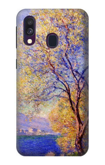 Printed Claude Monet Antibes Seen from the Salis Gardens Samsung Galaxy A40 Case