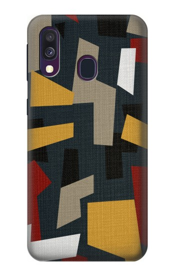 Printed Abstract Fabric Texture Samsung Galaxy A40 Case