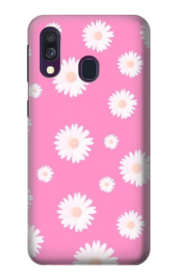 Printed Pink Floral Pattern Samsung Galaxy A40 Case
