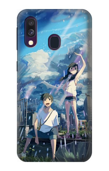 Printed Weathering With You Tenki No Ko Samsung Galaxy A40 Case