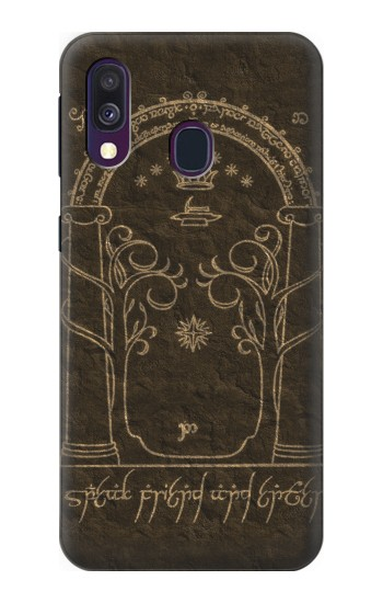 Printed Durin Door The Lord of The Rings Samsung Galaxy A40 Case