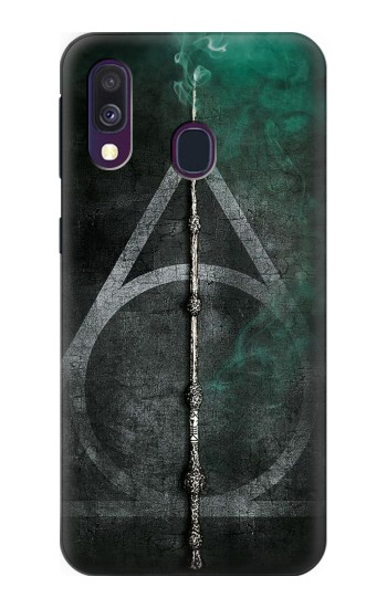 Printed Harry Potter Magic Wand Samsung Galaxy A40 Case