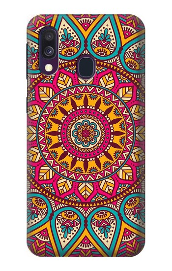 Printed Hippie Art Pattern Samsung Galaxy A40 Case