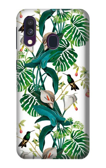 Printed Leaf Life Birds Samsung Galaxy A40 Case