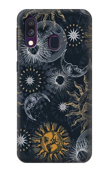 Printed Moon and Sun Samsung Galaxy A40 Case