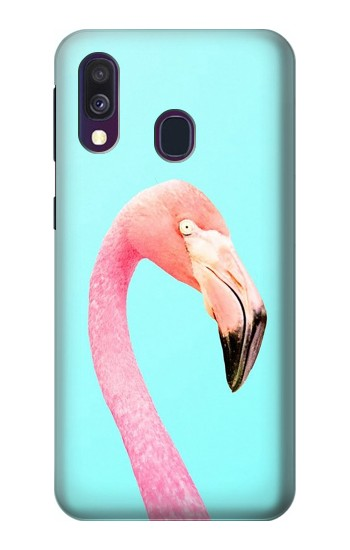 Printed Pink Flamingo Samsung Galaxy A40 Case