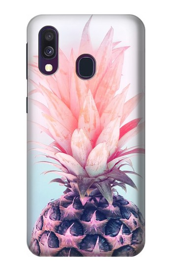 Printed Pink Pineapple Samsung Galaxy A40 Case