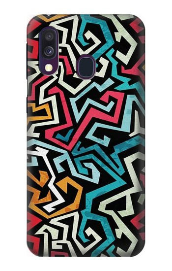 Printed Pop Art Pattern Samsung Galaxy A40 Case