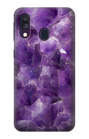 Printed Purple Quartz Amethyst Graphic Printed Samsung Galaxy A40 Case