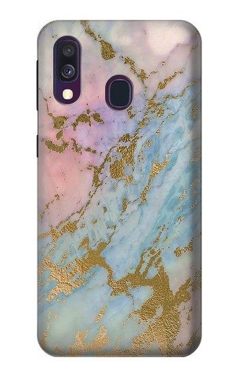 Printed Rose Gold Blue Pastel Marble Graphic Printed Samsung Galaxy A40 Case