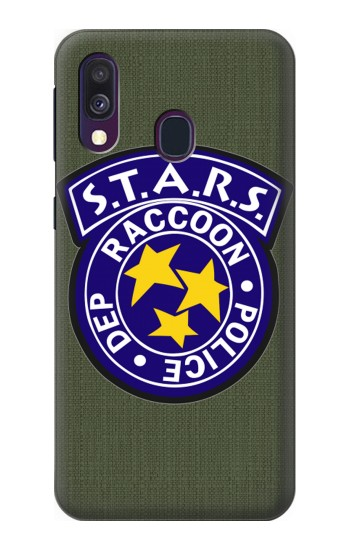 Printed Resident Evil Star Badge Chris Outfit Samsung Galaxy A40 Case