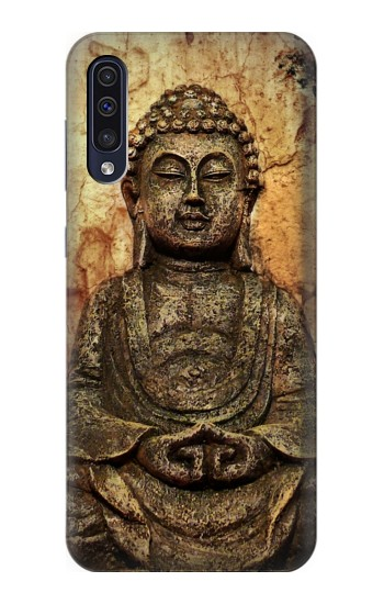 Printed Buddha Rock Carving Samsung Galaxy A50 Case