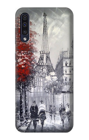 Printed Eiffel Painting of Paris Samsung Galaxy A50 Case