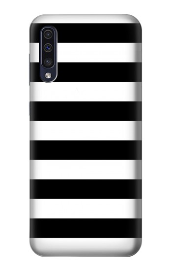 Printed Black and White Striped Samsung Galaxy A50 Case