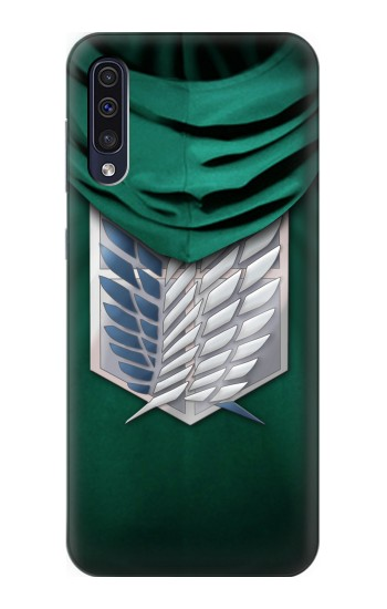 Printed Attack on Titan Scouting Legion Rivaille Green Cloak Samsung Galaxy A50 Case