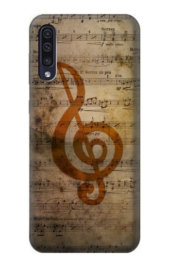 Printed Sheet Music Notes Samsung Galaxy A50 Case