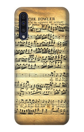 Printed The Fowler Mozart Music Sheet Samsung Galaxy A50 Case