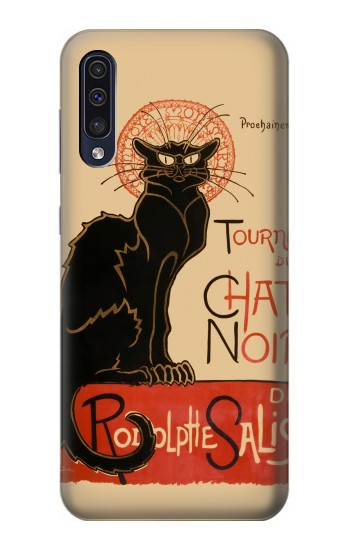 Printed Chat Noir The Black Cat Samsung Galaxy A50 Case