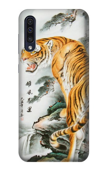 Printed Chinese Tiger Painting Tattoo Samsung Galaxy A50 Case