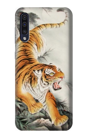 Printed Chinese Tiger Tattoo Painting Samsung Galaxy A50 Case