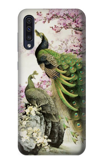 Printed Peacock Chinese Brush Painting Samsung Galaxy A50 Case