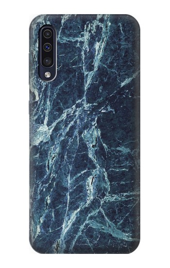 Printed Light Blue Marble Stone Texture Printed Samsung Galaxy A50 Case